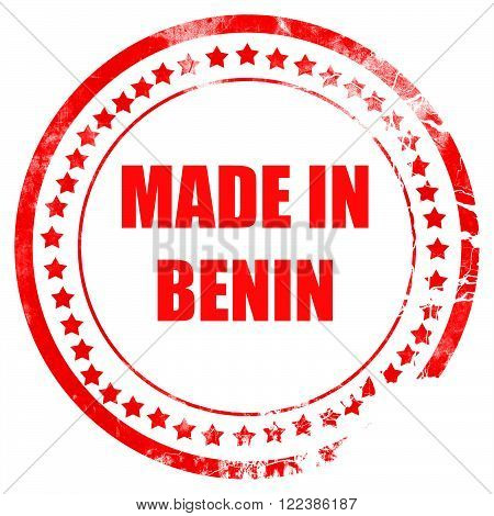 Made in benin with some soft smooth lines