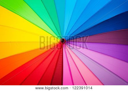 rainbow spectrum multicolored background of an umbrella