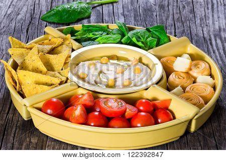 hommos, hummus, tomato, spinach, vegetable, natural, vegan,