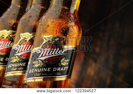 Bottles Of Miller Genuine Draft Beer