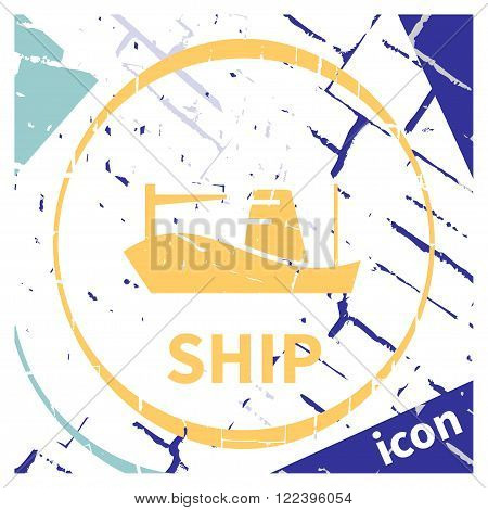 Ship. Isolated on abstract background. Vector illustration. EPS 10 opacity
