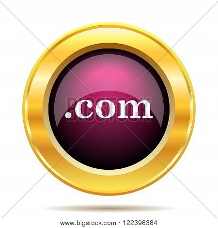 .com icon. Internet button on white background.