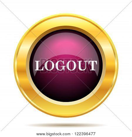 Logout icon. Internet button on white background.