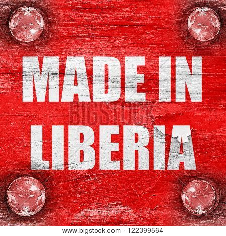 Made in liberia with some soft smooth lines