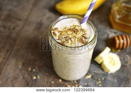 Banana Smoothie With Oat.