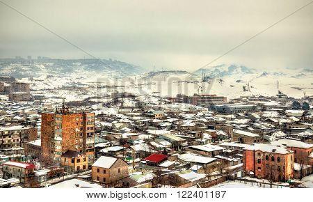 View of Yerevan from Erebuni Fortress - Armenia ** Note: Soft Focus at 100%, best at smaller sizes