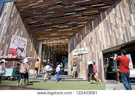 Huahin, Thailand - Mar 8, 2013 : Plearnwan Vintage Village Is A Major Tourist Attraction Of  Prachua