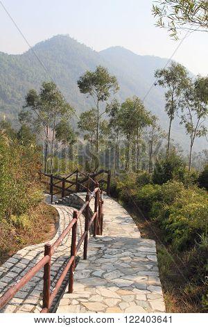 mountain landscape at Tsing Yi nature trail, Hong Kong