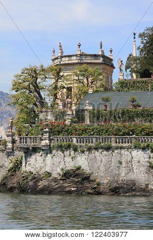 Borromeo Palace Island on Lake Maggiore, Italy