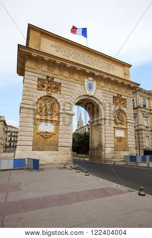 The Arc de Triumphe in Montpellier, France