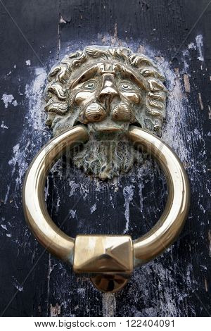 A Lion Head Door Knocker, Ancient Knocker