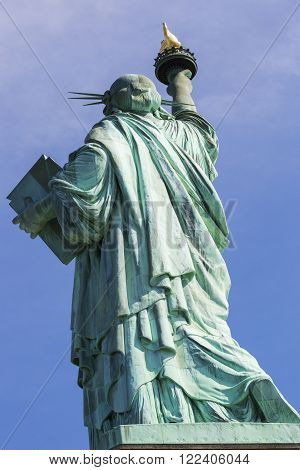 The Statue of Liberty in New York City. America.