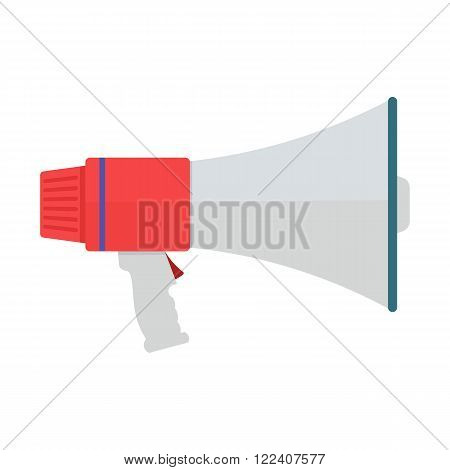 Megaphone vector illustration. Bullhorn on the white background. Megaphone flat style isolated vector