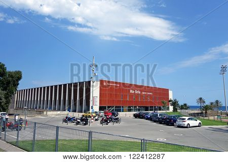 BARCELONA, SPAIN - JULY 31, 2015: Municipal sport complex