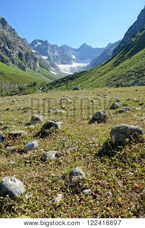 Mountain Hiking In The Caucasus