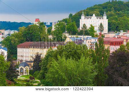 Karlovy Vary lazne Carlsbad spa town Czech Republic