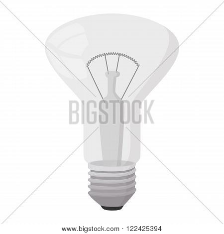 Decorator bulb icon in cartoon style on a white background