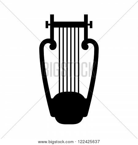 Harp, ancient musical instrument, ( shade picture )