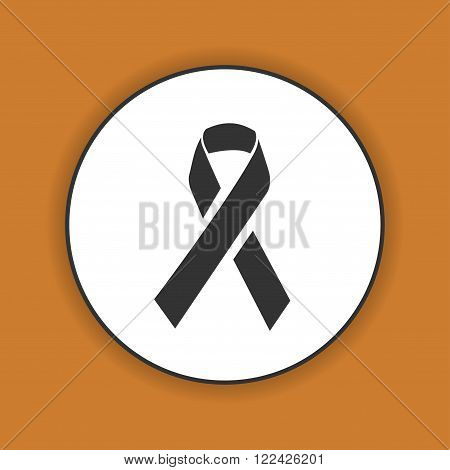 Vector AIDS awareness ribbon sign or icon.