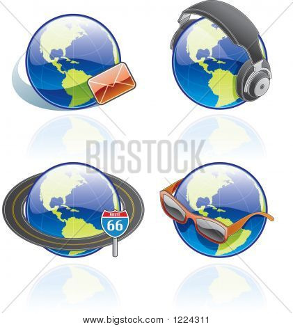 The Globe Icons Set - Design Elements 54B