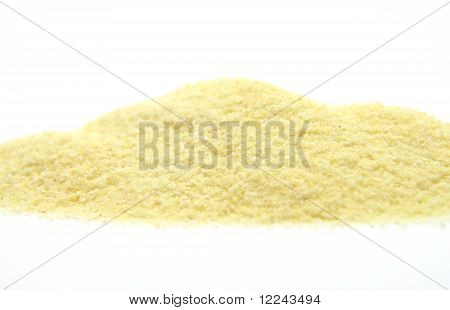 Semolina On White