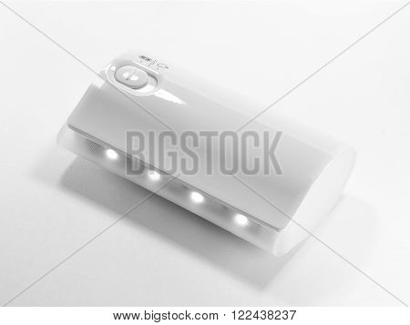 Closed up Powerbank Isolated on white background