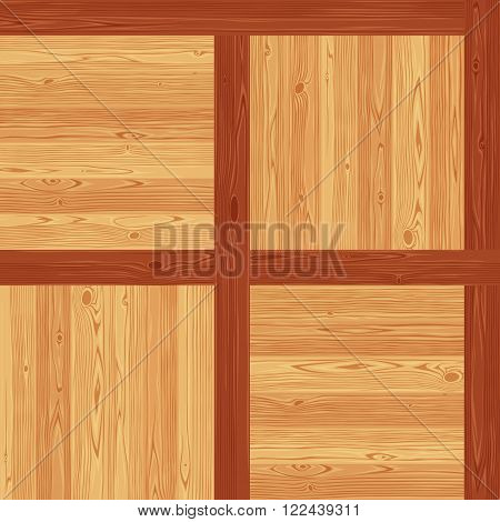 Versailles parquet seamless floor texture. Editable vector pattern in swatches.