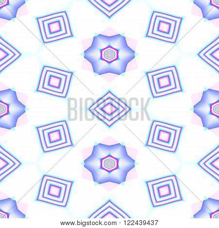 Floral decorative oriental arabian cashmere fractal decorative seamless pattern