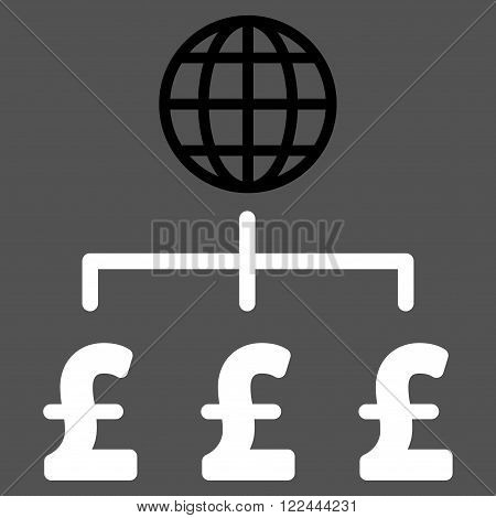 Global Pound Payments vector icon. Global Pound Payments icon symbol. Global Pound Payments icon image. Global Pound Payments icon picture. Global Pound Payments pictogram.
