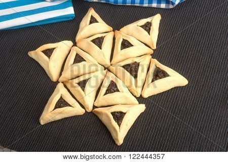 Purim - Traditional Cookies Hamantaschen Or Haman's Ears