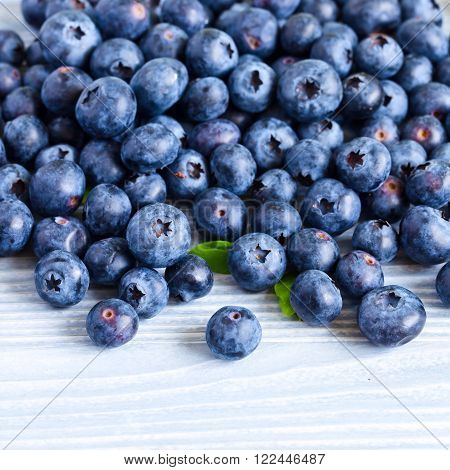 Blueberries On Woden Table