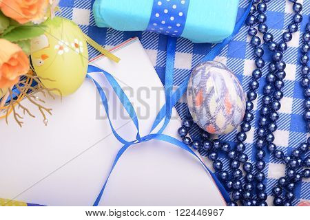 Assorted Easter Coloured Eggs In The Paper Egg Box