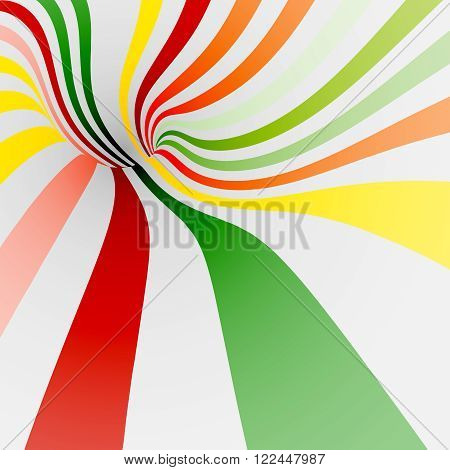 Colorful twisted shape for background of candy, cream, milkshake, ice cream or other sweets