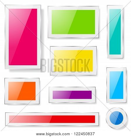 Glass Plates Of Different Colors