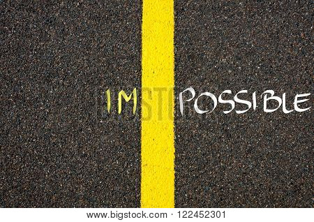 Concept Image Of Word Impossible