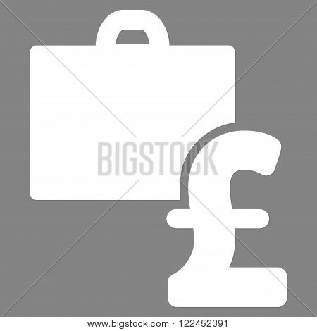 Pound Accounting vector icon. Pound Accounting icon symbol. Pound Accounting icon image. Pound Accounting icon picture. Pound Accounting pictogram. Flat pound accounting icon.