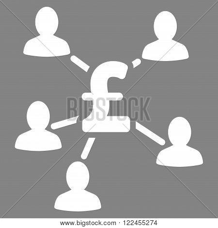 Pound Payment Clients vector icon. Pound Payment Clients icon symbol. Pound Payment Clients icon image. Pound Payment Clients icon picture. Pound Payment Clients pictogram.