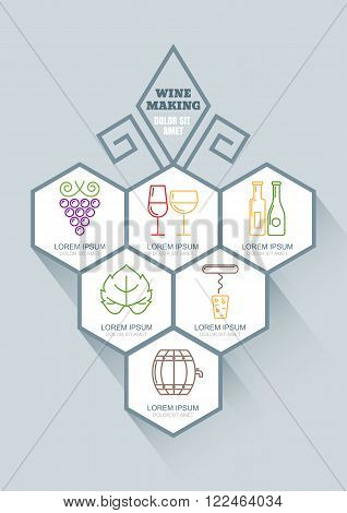 Wine And Winemaking Vector Infographics Design.