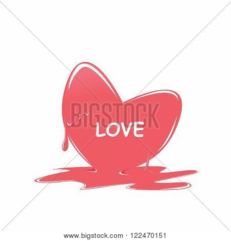 heart melt love red colors i love you