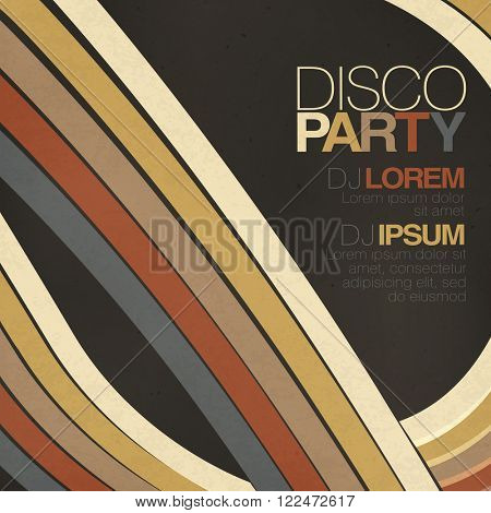 Retro disco flyer template. Raster version