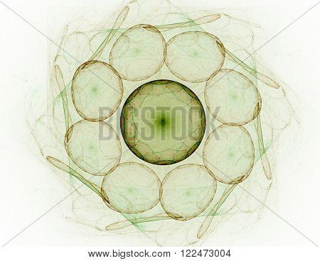 Abstract Fractal Patterns And Shapes. Digital Artwork For Creative Graphic Design. Symmetric Fractal