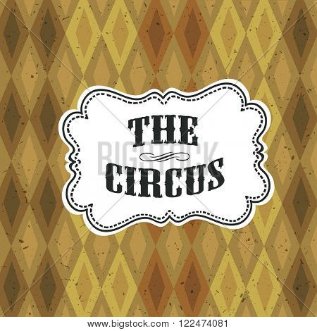 Circus Abstract Poster with Argyle Pattern. Raster version