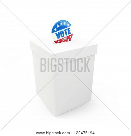 vote election badge button for 2016 3d Illustrations on a white background