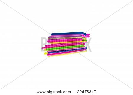 colorful plastic sticks for teaching children to count