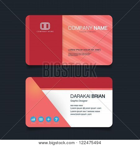 Name card Modern simple business card template. Vector illustration