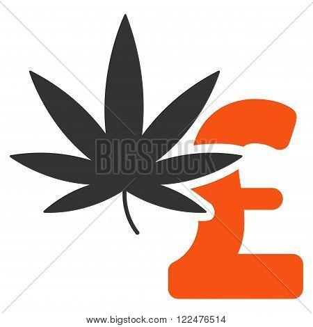 Marijuana Pound Business vector icon. Marijuana Pound Business icon symbol. Marijuana Pound Business icon image. Marijuana Pound Business icon picture. Marijuana Pound Business pictogram.