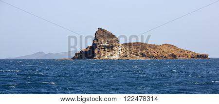 Uninhibited rocky volcanic islet  near Hanish island, Yemen