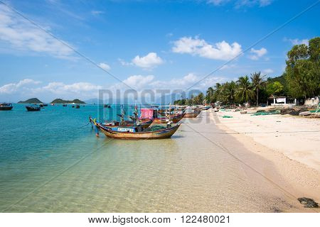 Beautiful seascape in Diep Son island in Khanh Hoa province, Vietnam.