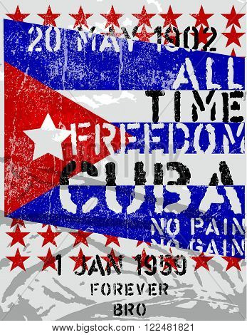 Freedom Cuba modern style fashion art textile