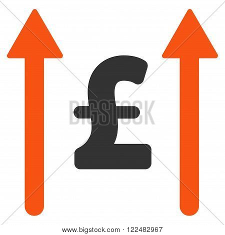 Send Pound vector icon. Send Pound icon symbol. Send Pound icon image. Send Pound icon picture. Send Pound pictogram. Flat send pound icon. Isolated send pound icon graphic.